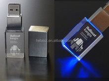 Wholesale crystal usb LED light legoo usb flash drive 1g/2g/4/g/8g/16g/32g/64g usb led light