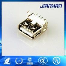 China manufacturer USB 2.0 AF 4p SMT connector