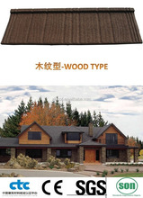 wood type colorful stone coated steel roofing tile/steel step tile roofing/Stone Chip Coated Steel Roof Tile