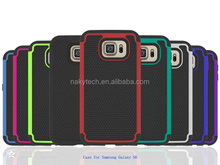 New arrival Football pattern silicon+PC case For Samsung Galaxy S6
