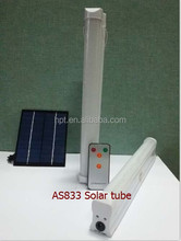Factory supply AS833 REMOTE SOLAR LED TUBE DC AC LIGHT
