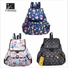Girls backpack bags/printed nylon backpack bags/fashion rucksack backpack