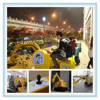 Funny play child excavator, child ride on kid excavator videos,toy excavator for kids