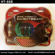 Professional car amplifier wiring kits tube amp kit (HT668)