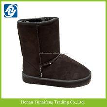 Moda de corte alto zapatos de gamuza de nieve botas