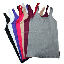 Wholesale Woman High Quality Comfortable And Breathable V Collar Tops Ladies Seamless Vest