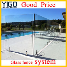semi frameless glass pool fencing/invisible swimming pool glass fence
