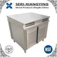 NSF Approval Stainless Steel Kitchen Servery Cabinet