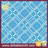 2015 Modern simple dining grey pvc table cover blue vinyl tablecloths in roll