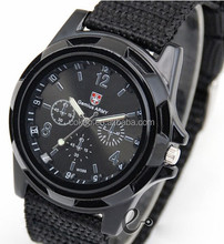 Woven strap quartz military watches men watches