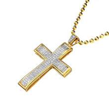 Hip Hop Jewelry Micro Pave Cross