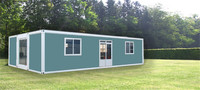 movable fireproofed timber framed prefab modular living container homes