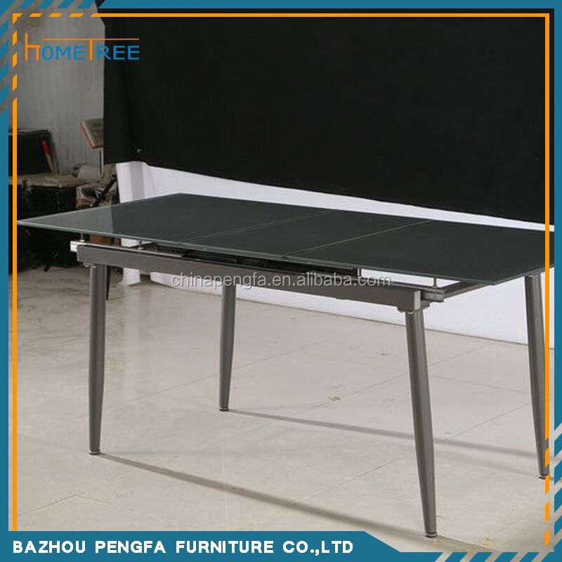 Grey Painted Extension Tempered Glass Dining Tabledining  : Grey Painted extension Tempered glass dining table from alibaba.com size 800 x 800 jpeg 65kB
