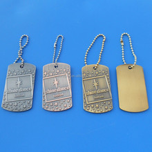 custom silver / brass / copper / metal music festival souvenir dog tags pet id tags