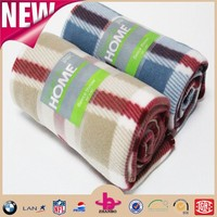 roll package color card polar fleece throw blanket/polar flece print blanket set