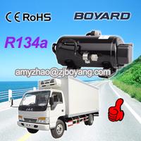 boyang r134a mini 12v compressor horizontal type air conditioner for van