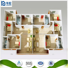 China Luxury Prefabricated House Prices with Light Steel Structure for Sale