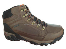 2015 new design Fashion brown Leather Mountain Outdoor safety Hiking Shoe
