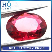 Large Faceted Rose Oval Shape Diamond Cut Glass Gem