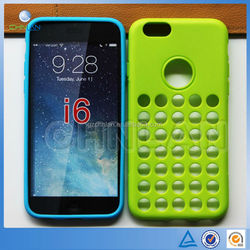 Wholesale Retro Dots Hole Style Slim TPU Silicone Cover for iPhone 6 Phone Case