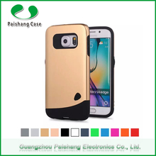 Mobile Phone Accessories custom bulk 12 colors TPU PC Hybrid shockproof 2 in 1 combo cases covers for Samsung Galaxy s6 edge