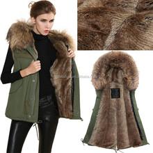 New Design Rabbit Fur Vest Fox and Fox Combine Knit Fur Waistcoat Vest