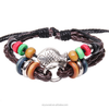 hand-knitted Fish bracelet, European multilayer beads punk bracelet (SWTJU117)