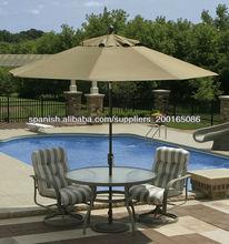 2.3M sombrilla de jardín con manivela