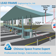 Secure Economical Prefab Steel Space Frame Toll Gate