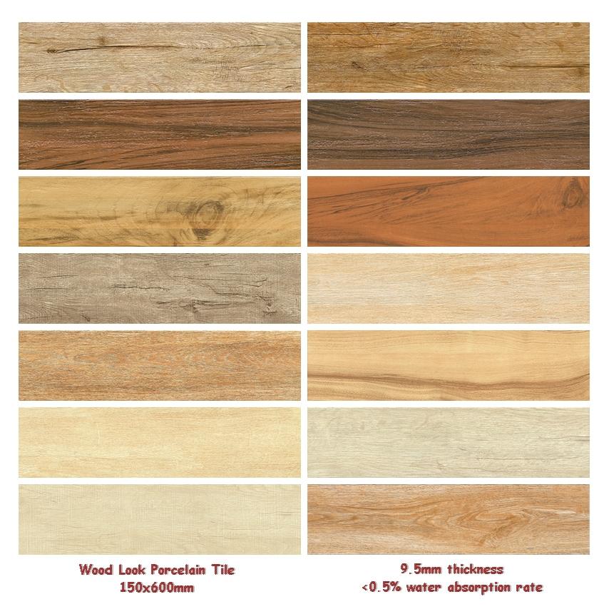 150x600 160x900 200x1000 Modern Non Slip Rustic Brick Wood Grain Look Ceramic Floor Tiles View