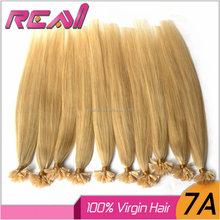 Alibaba Hair Fast Delivery 100% Brazilian Virgin Hair Extension Keratin Pre Bonded U Tip Nail Hair Extension