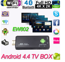New Dual Core MK809II Bluetooth Android 4.4 Smart TV BOX Dongle XBMC Bluetooth Wifi Mini PC Resuli Hot