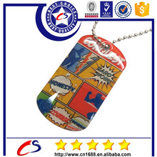 Epoxy dog tag with printed logo