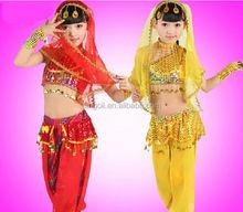 2014 Little girls Beautiful Indian Belly Dance Costume