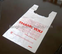 Pleasing color t-shirt printed bag eco friendly shopping bag plastic bag holder walmart