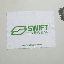 High quality one color logo silk screen printing microfiber lens cloth with zig zag cutting edge