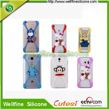 Lightest Simple universal rubber cell phone case with Cartoon logo