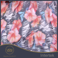Silk printed fabric,silk crinkle digital print fabric