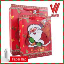country door gift book,santa claus pattern paper bag 3d crafts paper bag