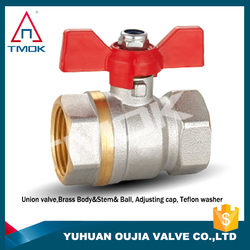 3/8 inch high quality with full port and nicekl-plated with CW 617n material france style full port brass ball valve