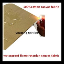 brown waterproof fireproof canvas fabric for tent /bags