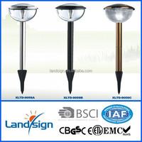 Cixi Landsign CE/ROHS Solar Lamp Stainless Steel 3 Super White LED XLTD-905S solar lid lights manufacturers