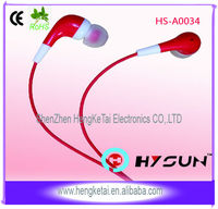 Corlorful good quality earpiece OEM service