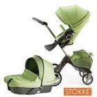 stock Stokke Xplory Newborn 2014 V3, V4 Stroller in Green, Baby stroller
