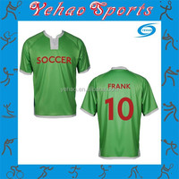 football shirt maker soccer jersey color green with sublimation number