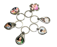 Christmas Small Gift Souvenir Blank Sublimation Key Chain (A89)