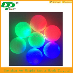 High quality 2015 bulk cheap custom design LED golf ball ,newest hot sale practice golf ball