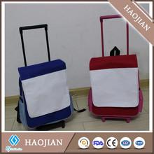 sublimation customized blank trolley bag
