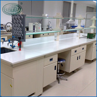 Steel Wood Central Table physics School Microbiology Laboratory Equipment