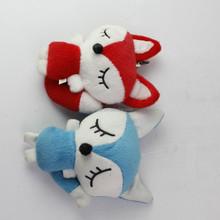 Lovely Stuffed Plush Red Fox Toy Mini Keychain